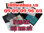 In card visit nhựa