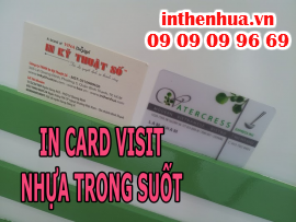 In card visit nhựa trong suốt